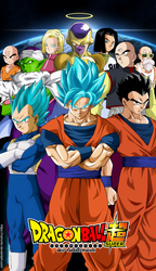 poster dragon ball super Universe Survival by naironkr