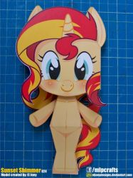 Sunset Shimmer completed model by ELJOEYDESIGNS