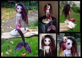 ASRA the mermaid of the Blood Sea. Art doll. by Lauramei
