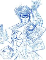 Gambit and X-Men JAM SKETCH by thejeremydale