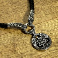 Large Celtic Knot Pendant On Celtic Dragon Necklac by GoodSpiritWolf