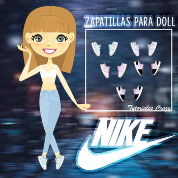 Zapatos NIKE para doll by tutorialescrazy