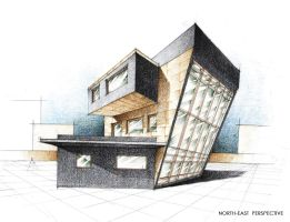 House Exterior Perspective by Radu26