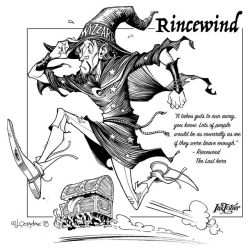 Inktober day02: Rincewind by Loopydave