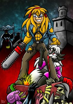 Scarzzy vs The Army Of Darkness by Berty-J-A