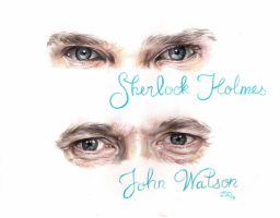 Sherlock and John's eyes by ChocolatinaChip