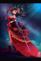 The Red Queen of the Carnival by MichelVerdu