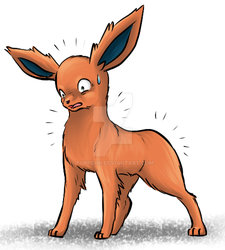 Fluffless Flareon by Furreon