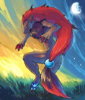 zoroark by heatrailshade