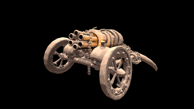 Low poly Canon with normals by AlesRot
