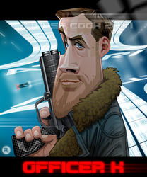 Ryan Gosling as Officer K by RussCook