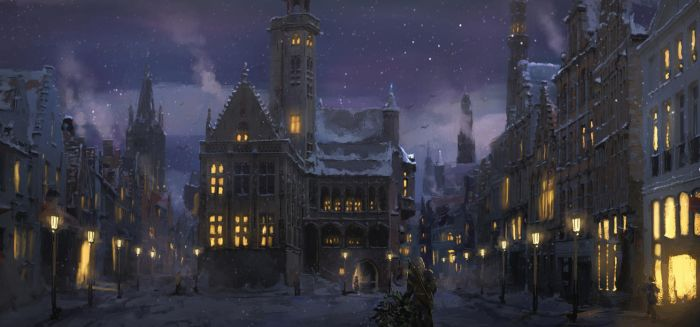 Winter tale - Christmas card by Silberius