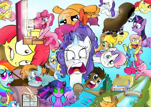 Pony Collage by lefthoovesdash