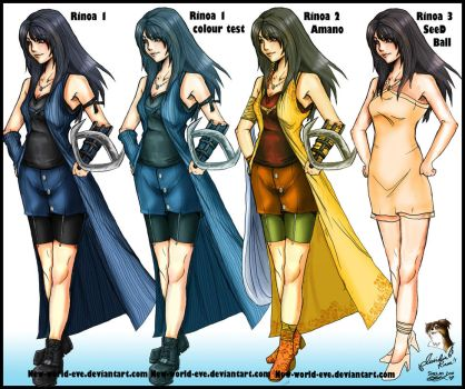 Dissidia 012 Rinoa and Alts by new-world-eve