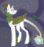 UPDATE Alien Goddess of Light with Background by Darumemay