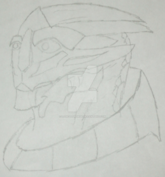 Baseline Drawing Attempt at a Turian by LogicalPremise
