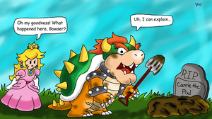 Bowser was too heavy by YoshiGamerGirl