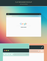 Freebie - Flat Browser Mockup by GraphBerry