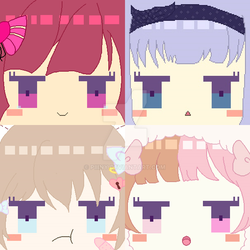 Charakter Icons (girls) for Jimdo by Piiiny