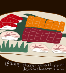 Sushi Platter Boat by TheSympatheticOne