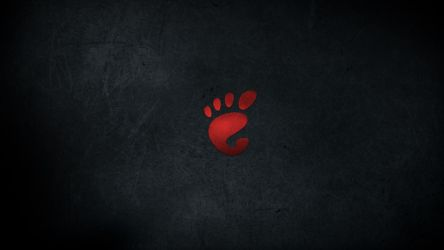 Gnome Dark Wallpaper - Red by malkowitch