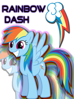 Rainbow Dash T-Shirt Design by HuskyLeafStudios
