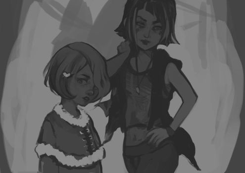 WIP - Hazel and Noona by Cuddens