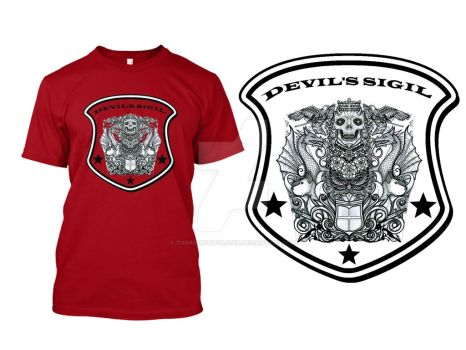 Devil's Sigil t-shirt for sale by thehoundofulster