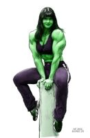 She Hulk in FULL COLOR by myleadinglady