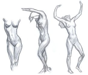 Anatomy Practice 025 - Female body by shkomy