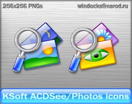 ACDSee or Photos Glossy icons by KSoft