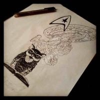 Tattoo design for my leg/hip2 by CLING-ON
