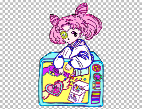 *CLICK FOR FULL GIF* Chibiusa by CrazyLittleZebra