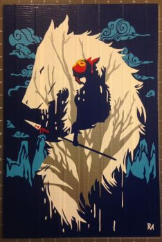 Princess Mononoke Duct Tape Art by DuctTapeDesigns