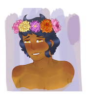 Flower Crown Toggie by snaillace