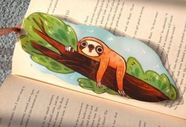 Sloth Bookmark by michellescribbles