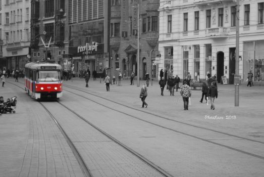 The red tram by PhotoLaura