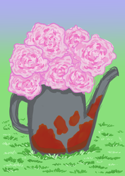 Attempt at Peonies by AncientArrow
