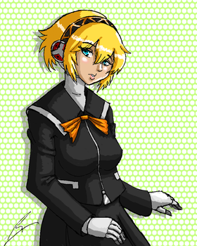 Aigis the Seven Sisters High student by borockman