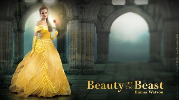 Emma Watson - Belle Wallpaper 04 by AxteleraRay-Core