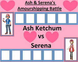 Ash and Serena's Amourshipping Battle by WillDynamo55
