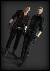 Father And Son ( Wesker and Jake) by YegiHCH26