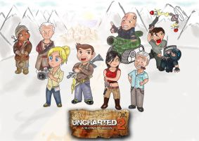 Uncharted 2 - among chibis by ssj-Donny