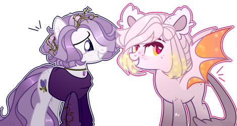 MLP OC Lavrille Porle and Penelope Lufus (Gift) by ToffeeLavender