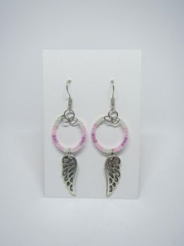 Pink hoops with wings by IngaleCreations