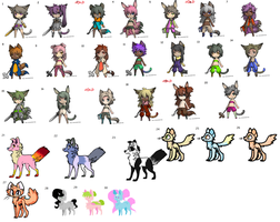 Old Adopts.. (30/26) *CLOSED* by SweetZtea