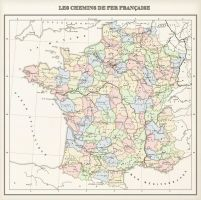 France: regions, provinces and railways by 1Blomma