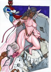 Inquirian Psylocke Vs Sabertooth Earth65324 by Tazirai
