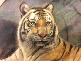 Tiger in Pastel by Exilicca