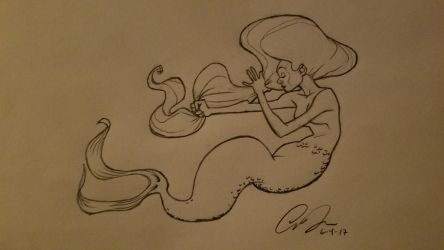 Mermaid Sketch by alexzemke